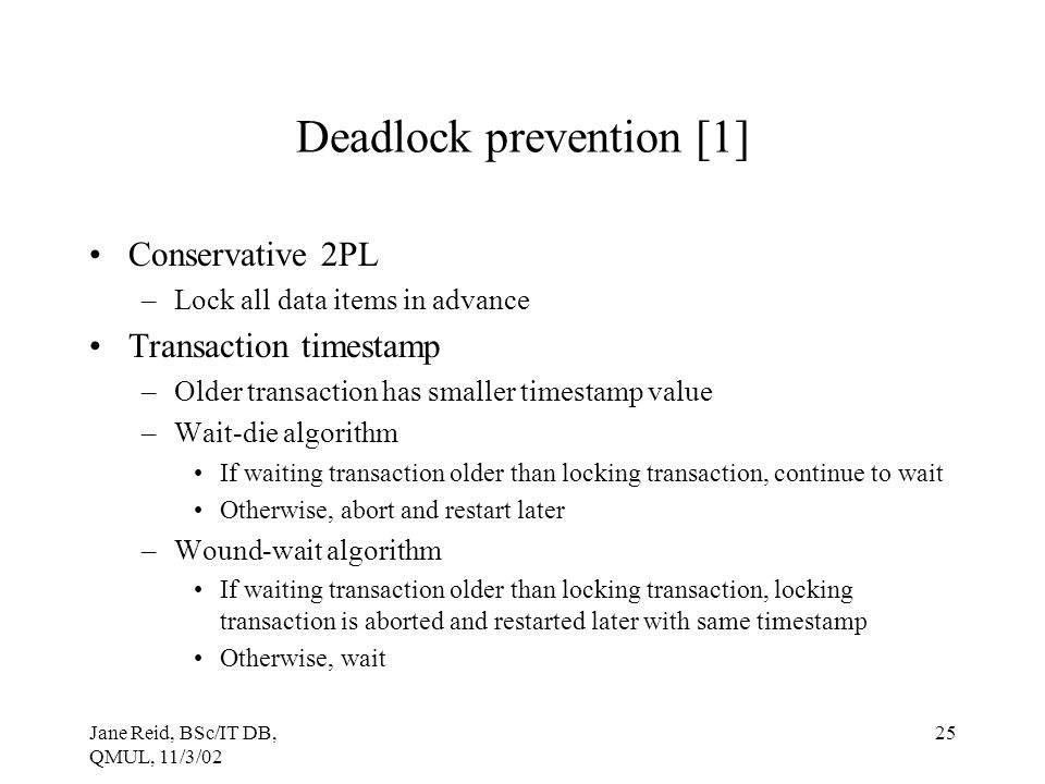 Deadlock prevention [1]